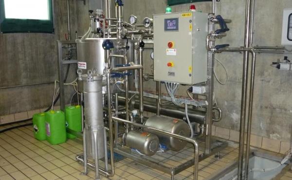 Impianto ultrafiltrazione salamoia Progema