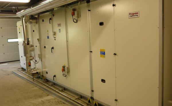 Impianto climatizzazione sala cottura con free cooling